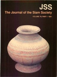 The Journal of the Siam Society Vol. LXXIX, Part 1-2, 1991 - Khamkoo