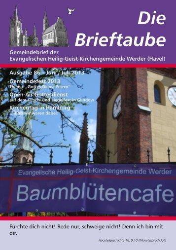 Ausgabe 86 Juni - Juli 2013 - Heilig-Geist-Kirchengemeinde Werder