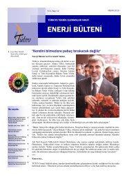 Tütev Enerji Bülteni Sayı 12 - Türkiye Teknik Elemanlar Vakfı