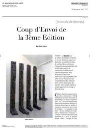 magazine des arts - Les Ateliers de Rennes