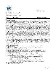 Job Description - South Piedmont Community College