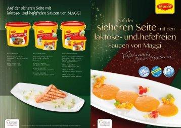 Auf der sicheren Seite mit laktose- und hefefreien Saucen von MAGGI