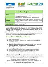 Einzelne Themenfelder für das Seminar: - Jugendring Sächsische ...