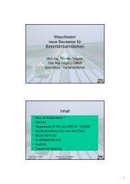 Waschbeton neue Bauweise für Betonfahrbahndecken Inhalt - VSVI
