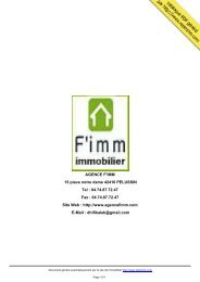 catalogue immobilier AGENCE F'IMM PELUSSIN - Repimmo