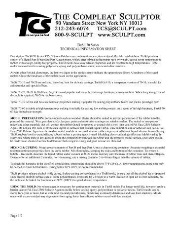 Description: TinSil 70 Series RTV Siliconee Rubbers are condens