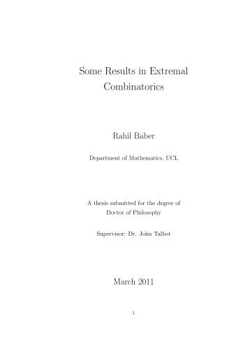 PhD thesis - UCL