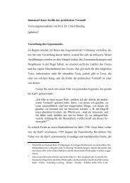 Immanuel Kant: Kritik der praktischen Vernunft ...