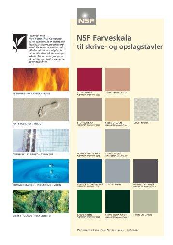 farvekort. forside - NSF