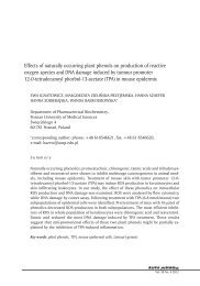 Effects of naturally occurring plant phenols on ... - Herbapolonica.pl