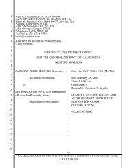 class certification motion - Surviving Spouses Against Deportation