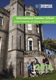 ISS Prospectus - University of Stirling
