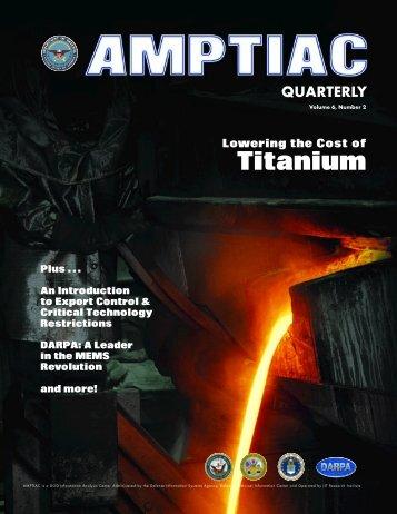 Titanium - Advanced Materials, Manufacturing and Testing ...