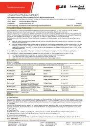 Produktinformationsblatt - Zertifikate - Landesbank Berlin