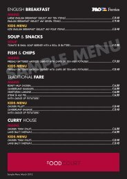 Food Court Sample A4 Menu.indd