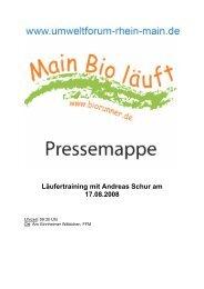Pressemappe - Umweltforum Rhein-Main
