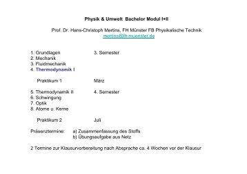 Physik & Umwelt Bachelor Modul I+II Prof. Dr. Hans-Christoph ...