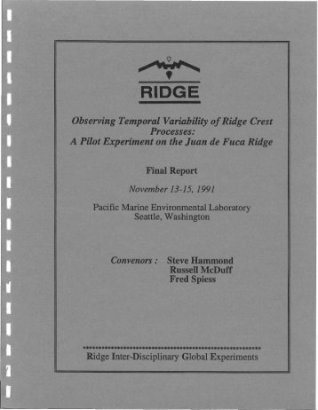 A Pilot Experiment on the Juan de Fuca Ridge - Ridge 2000 Program