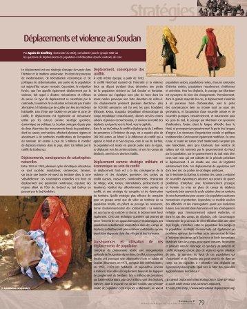Déplacements et violence au Soudan à Khartoum - Groupe URD