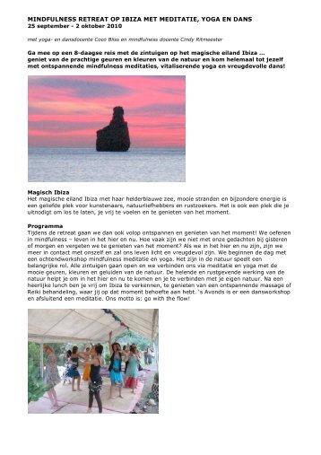 mindfulness retreat op ibiza met meditatie, yoga en dans - Coco Bliss