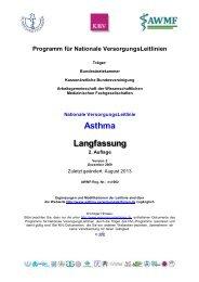Nationale VersorgungsLeitlinie Asthma - Langfassung, 2 ... - AWMF