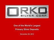 Orko Silver One2One Presentation - Proactive Investors
