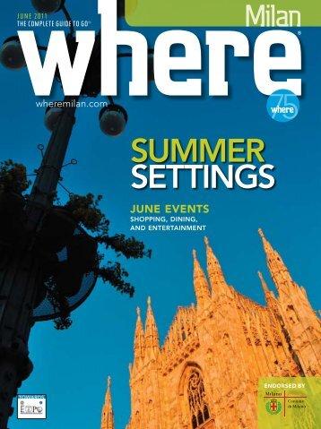 summer settings - Where Milan