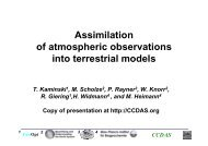 Assimilation of atmospheric observations into terrestrial ... - FastOpt