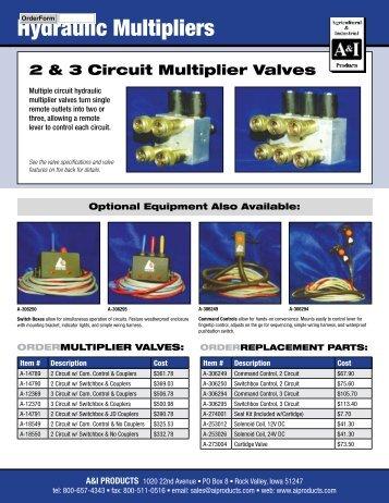 Hydraulic Multipliers - Garage Robert Carrier inc.