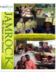 MESSAGE FROM TEAM JAMAICA - Projects Abroad