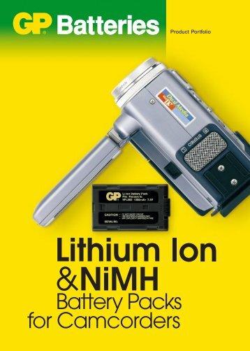 GP batteries for camcorders brochure (PDF - 409kB) - Antaris