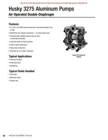 graco husky 1050 pump manual