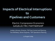 Impacts of Interruptions to Pipelines - Gas/Electric Partnership