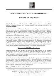significant patent developments in brazil - Daniel Advogados