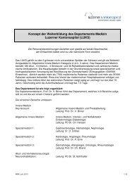 Weiterbildungskonzept des Departements Medizin - Luzerner ...