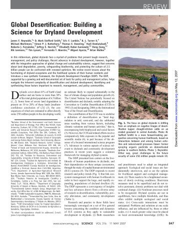 Global Desertification: Building a Science for Dryland Development ...