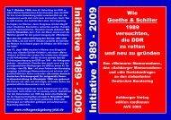 Initia tive 1989 - 2009 Initia tive 1989 - 2009 - Volksgesetzgebung jetzt!