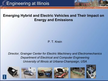 Emerging Hybrid and Electric Vehicles and Their Impact on Energy ...