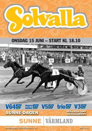 ONSDAG 15 JUNI – START KL 18.10 - Solvalla