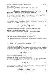 7. Übungsblatt – Mathematische Methoden in der Physik - Institut für ...