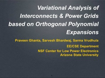 Variational Analysis of Interconnects & Power Grids based on ...
