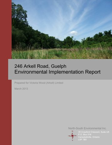 Environmental Implementation Report - City of Guelph