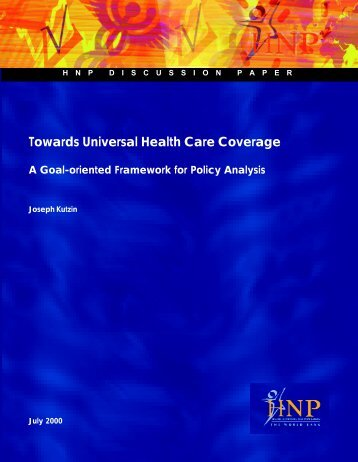 Toward Universal Health Care Coverage - World Bank Internet Error ...