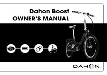 Dahon Boost OWNER'S MANUAL - NYCeWheels - Electric Bikes