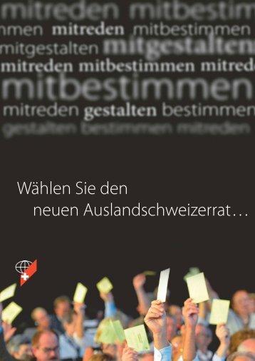 Informationsblatt zur ASR-Wahl - SwissCommunity.org