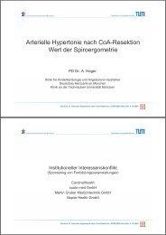 Arterielle Hypertonie nach CoA-Resektion Wert der Spiroergometrie