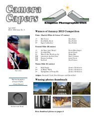Camera Capers: April 2013 - Kingston Photographic Club