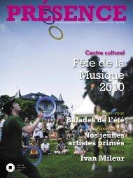 319 06/2010 (.pdf) - Centre culturel de Dison