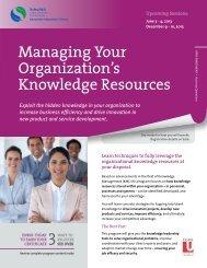 Managing Your Organization's Knowledge Resources - Schulich ...