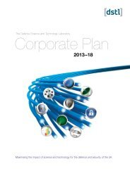 Corporate Plan 2013-2018 - Dstl